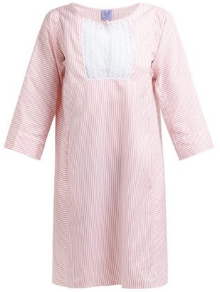 Thierry Colson Talitha Cotton And Silk Blend Stripe Kaftan - Womens - Pink Stripe
