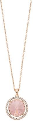 Brilliance+ Brilliance Halo Oval Pendant Necklace with Swarovski Crystal