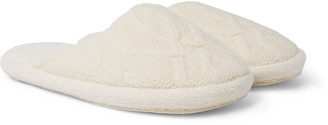 Soho Home - Harrison Cable-Knit Wool-Blend Slippers - Men - Cream