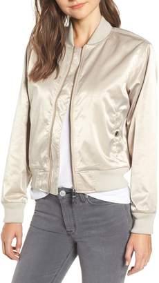 Hudson Jeans Sateen Bomber Jacket