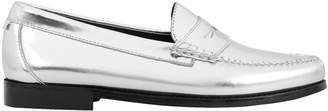 Re/Done X Weejuns Whitney Metallic Silver Loafers