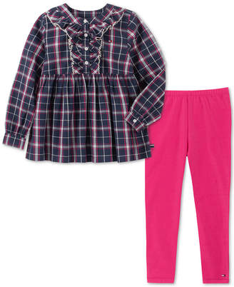 Tommy Hilfiger Toddler Girls 2-Pc. Plaid Tunic & Leggings Set