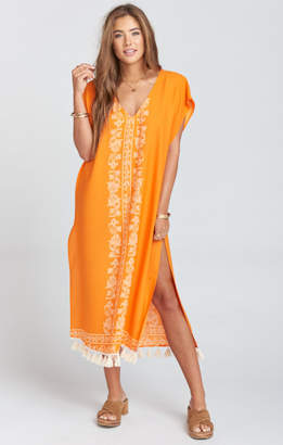 MUMU Shelly Tassel Maxi Dress ~ Nomad Blintz Clementine