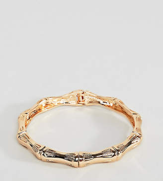 Asos DESIGN Curve bangle bracelet with chunky textured vintage detail in gold