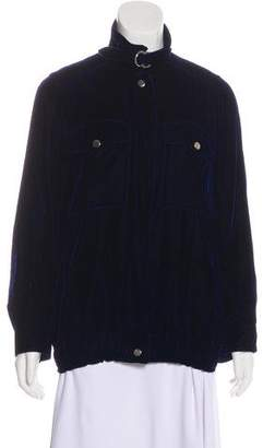 Courreges Velvet Zip-Up Jacket