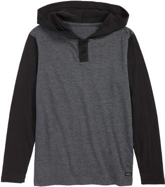 RVCA Pick Up Hooded Henley T-Shirt