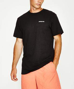 Patagonia P-6 Logo Responsible Short Sleeve T-shirt Black