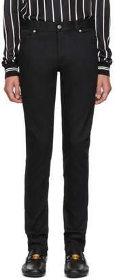 Balmain Black Denim Logo Jeans