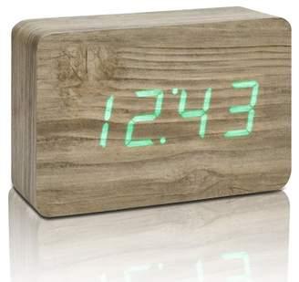 GINGKO Brick Click Clock - Ash/Green LED