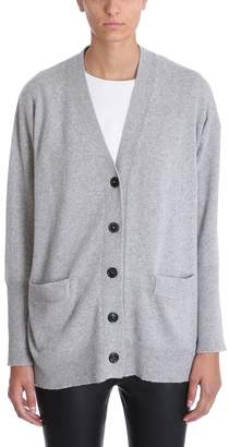 Mauro Grifoni Grey Cashmere Wool Cardigan