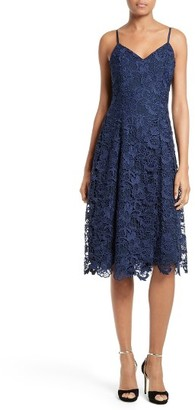 Women's Alice + Olivia Naomi Spaghetti Strap Lace Dress $440 thestylecure.com
