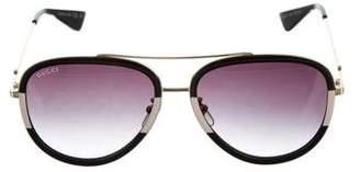 Gucci Oversize Aviator Sunglasses w/ Tags