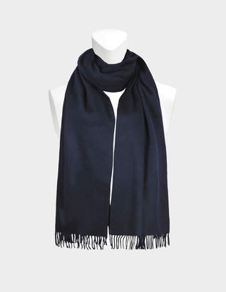 Eric Bompard Stole in Navy Cashmere