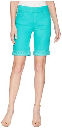 Tribal Super Stretch 10 Pull-On Shorts with Embroidery Women's Shorts