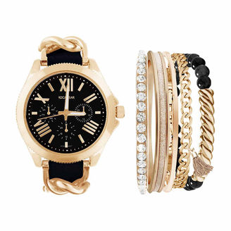 ROCAWEAR Rocawear Womens Black 6-pc. Watch Boxed Set-Rlst1954g329-003 $45 thestylecure.com