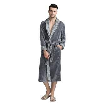 DoMii Women Long Thick Fleece Robe Soft Spa Plush Full Length Bathrobe  Sleepwear M dda08655e