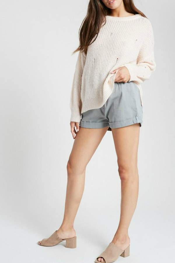 Wishlist Holed-Up Distressed Sweater