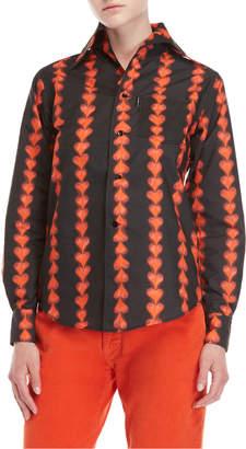 Fiorucci Bleeding Heart Nylon Shirt