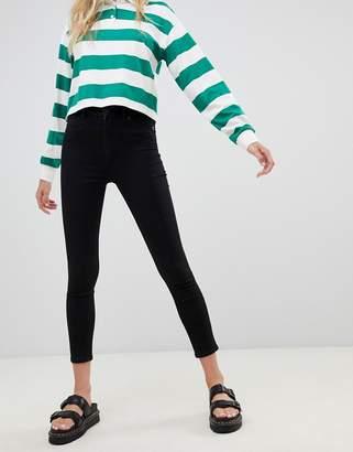 Monki Oki Cropped Skinny High Waisted Jeans
