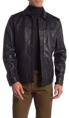 Scotch & Soda Premium Lightweight Leather Shirt Jacket