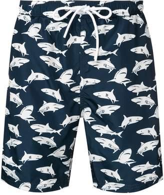 Paul & Shark Sharks print swim shorts