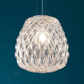 Gläserne Designer-Pendelleuchte Pinecone