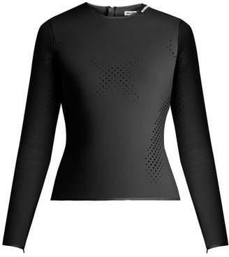 Balenciaga Perforated Neoprene Top - Womens - Black