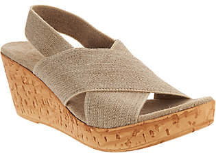 Co Charleston Shoe Stretch Wedge Sandals - Med