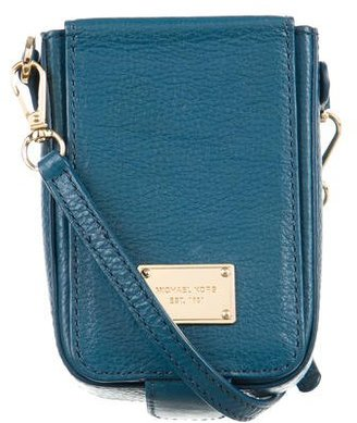 Michael Kors Leather Cell Phone Crossbody Bag $65 thestylecure.com
