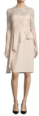 Teri Jon by Rickie Freeman Asymmetrical Peplum Sheath Dress $520 thestylecure.com