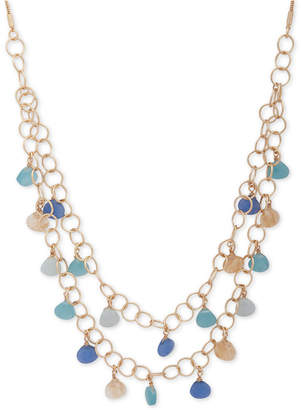 """lonna & lilly Gold-Tone Stone Double-Layer 32"""" Statement Necklace"""