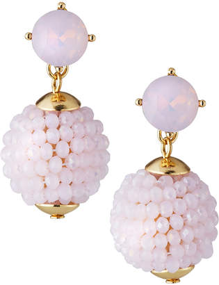 Lydell NYC Beaded Drop Earrings, Pink