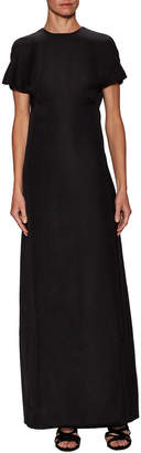 Valentino Solid Dolman Sleeve Gown