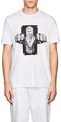 "Neil Barrett Men's ""Boxing Brutus"" Cotton Jersey T-Shirt"