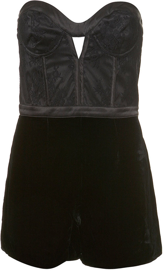 Velvet and Lace Playsuit