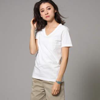 JET (ジェット) - ジェット JET ベーシックVネックコットンTシャツ (ホワイト)