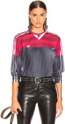 Alexander Wang Adidas By adidas by Photocopy Long Sleeve Tee in Black & Fox Brown | FWRD