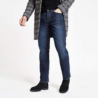 River Island Dark blue straight leg jeans