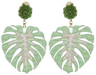 Mercedes Salazar Palm Leaf Clip On Earrings