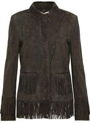 L'Agence Maybury Fringed Suede Jacket