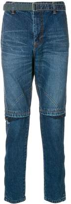 Sacai belted slim-fit jeans