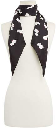 Lulu Guinness Kissing cameo silk twill scarf