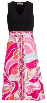 Emilio Pucci Printed Silk Fit-&-Flare Dress