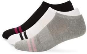Superga Three-Pack Athletic Mesh Stripe Low-Cut Socks
