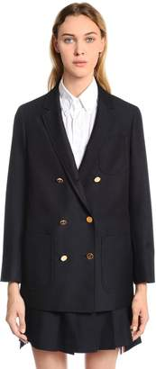 Thom Browne Double Breasted Wool & Mohair Blazer