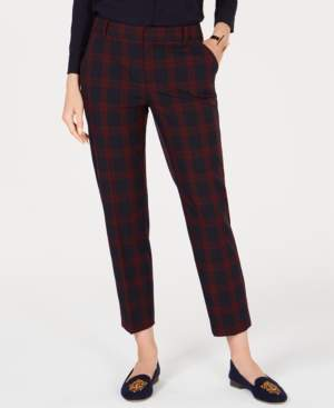 Charter Club Plaid Slim-Leg Ankle Pants, Created for Macy's