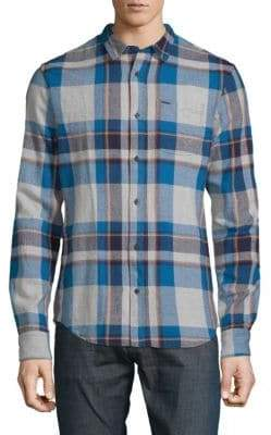Scotch & Soda Plaid Cotton Button-Down Shirt