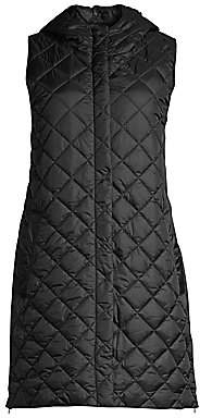 Eileen Fisher Women's Quilted Recycled Fabric Longline Vest