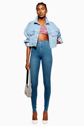 Topshop Womens Tall Authentic Joni Jeans - Blue