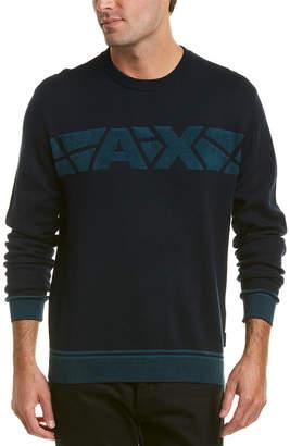 Armani Exchange Terry Logo Crewneck Sweater